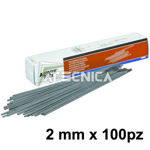 Elettrodi rutilici da 2 mm per saldatura MMA ferro 2x300mm 100pz AERRE