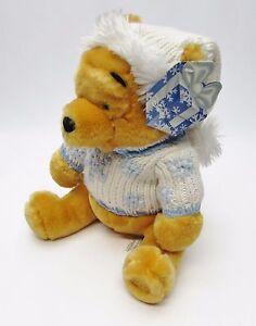 NEW-Winter-Knit-Sweater-Winnie-the-Pooh-Plush-Holiday-Xmas-Disney-Store-Rare