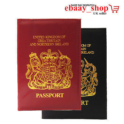 PASSPORT HOLDER FOR UK /& EUROPEAN LOGO PASSPORT PROTECTION COVER FOR UK PEOPLE