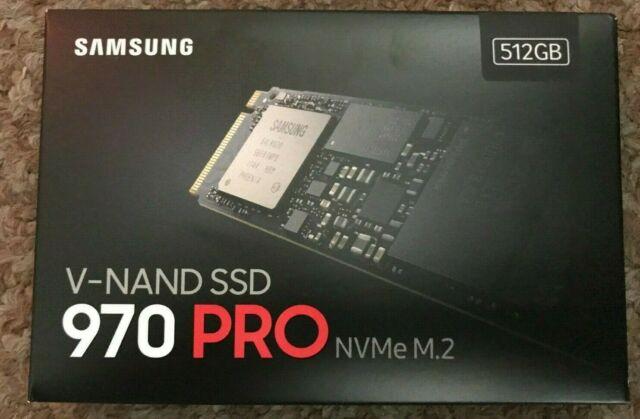 Samsung 970 PRO SSD 512GB - M.2 NVMe with V-NAND Technology MZ-V7P512BW NEW