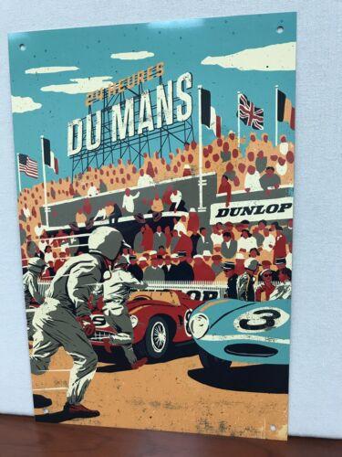 24 Hrs Le Mans Du Mans Racing Gas vintage Metal Reproduction Sign 18x12