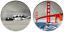 miniatura 8 - Golden Gate Bridge Silver Coin San Francisco Alcatraz Jail House Fields Park USA