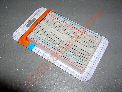 Breadboard 170// 400// 830 Pin Lötfreies Steckbrett Steckboard 40 x Jumper 30cm