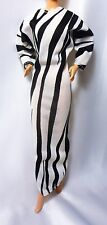VINTAGE Barbie DOLL BLACK AND WHITE DRESS BLACK AND WHITE LABEL