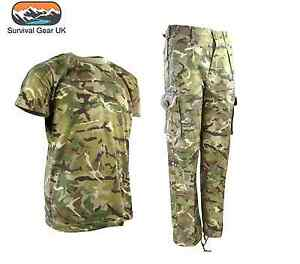 KIDS ARMY T-SHIRT BOYS GIRLS COSTUME SOLDIER FANCY DRESS TOP OUTFIT DPM CAMO