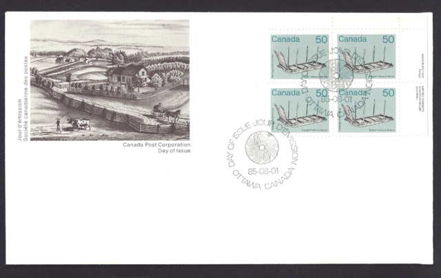 Canada   #  930 URpb    ARTIFACTS - SLEIGH    Brand New 1985 Unaddressed Cover