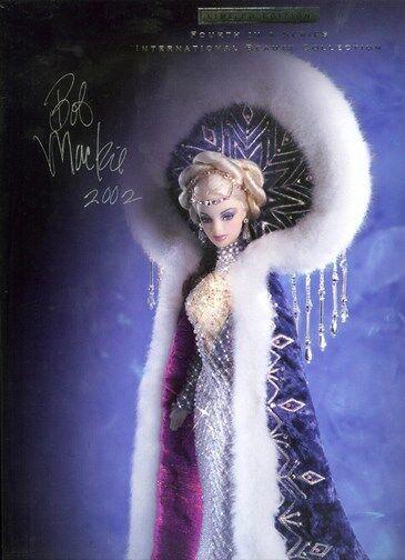 2001 Firmado Bob Mackie Fantasía Diosa del Ártico Barbie Edición Limitada