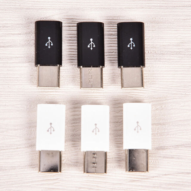 3x USB Type C Male Connector to Micro USB Female Converter USB-C Adapter WG