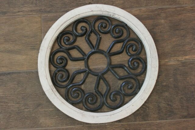 Solid Wood Wall Hanging Wrought Iron