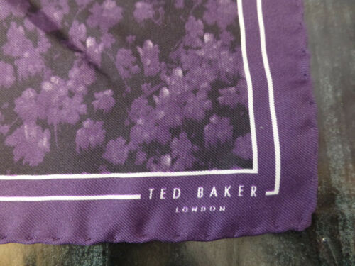 TED BAKER Pocket Square WEDFEST Silk Hankie Faint Floral Handkerchief BNWOT R£29