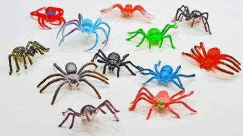 Spinnen 12 Stück im Beutel verschiedene Größen bunt Mitgebsel Neu