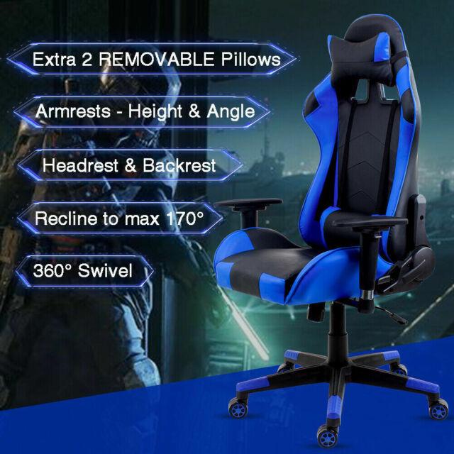Strange Intimate Wm Heart Qya1042B Gaming Executive Office Chair Pu Leather Blue Machost Co Dining Chair Design Ideas Machostcouk