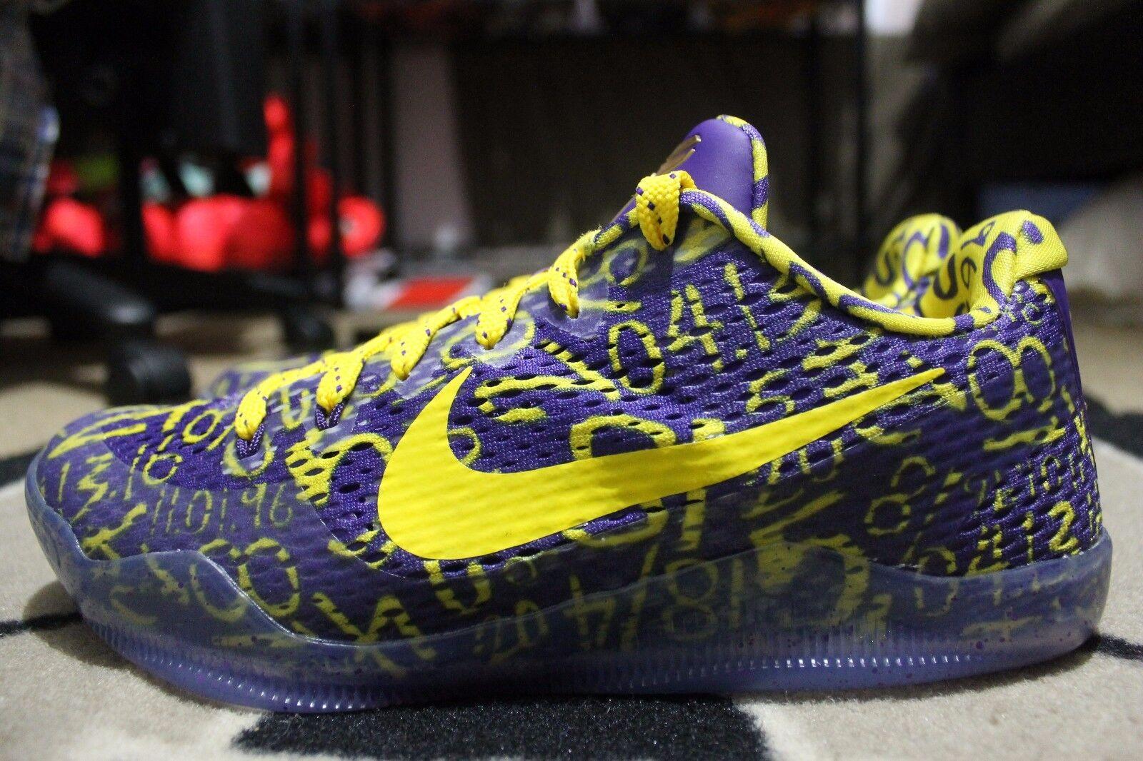 NEW Nike Kobe Nike XI 11 Mamba Day Nike Kobe iD Size 8.5 Purple/Gold  (865773-993) b25aba