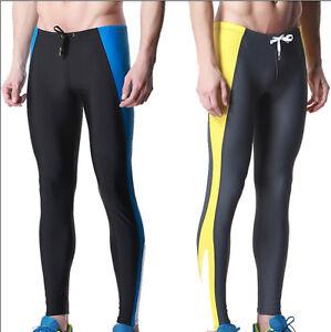 da2cf1650a33e 6851 New Men s Sport Fitness Swim Trunks Long Leg Swimming Tights ...