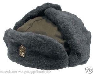 271e88576 Details about Genuine Czech Army Fur Lined Hat, Shapka Ushanka