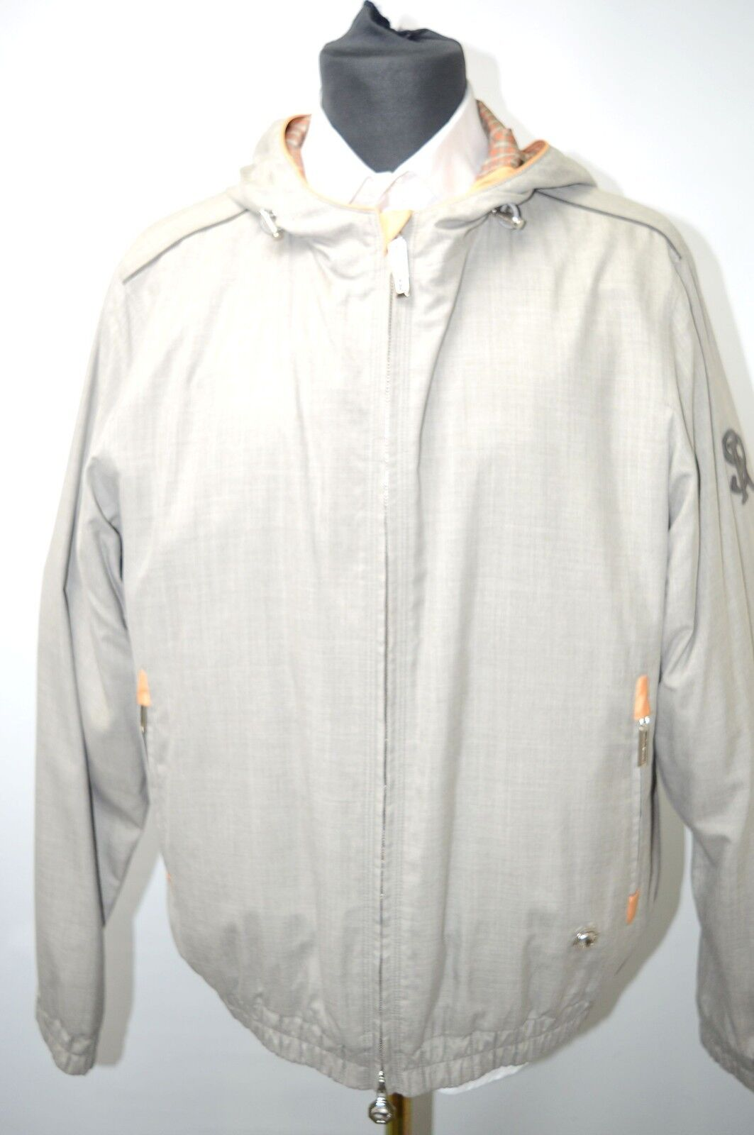 NEW 8550,00  STEFANO RICCI Outwear  Coat Silk  Us 2XL Eu 56 G107