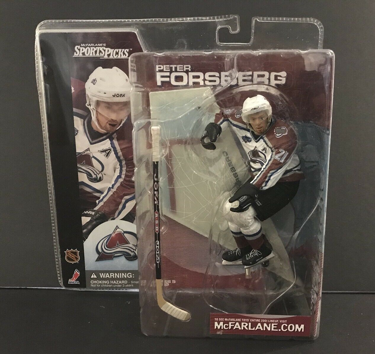 Mcfarlane NHL Series 1 Peter Forsberg bluee Eyes Variant Figure