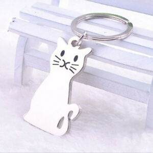 Art-design-Cat-Shaped-Metal-Key-Chain-Keychain-Key-Ring-Keyring-Hot-Gift-New
