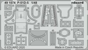 Eduard-Accessories-491074-1-48-P-51D-5-Interior-for-Airfix-New
