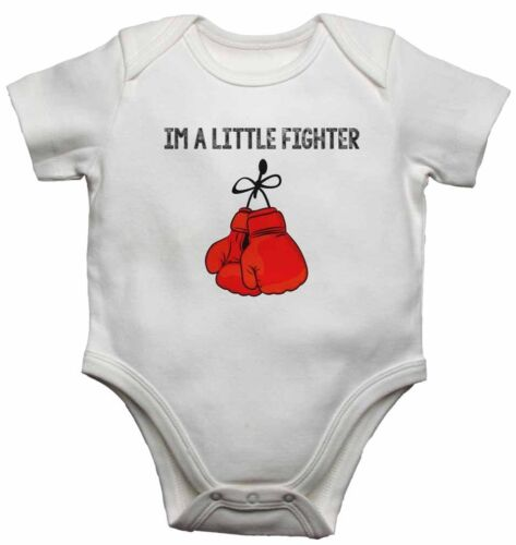 New Personalised Baby Vests Bodysuits for Boys Girls Gift Im a Little Fighter