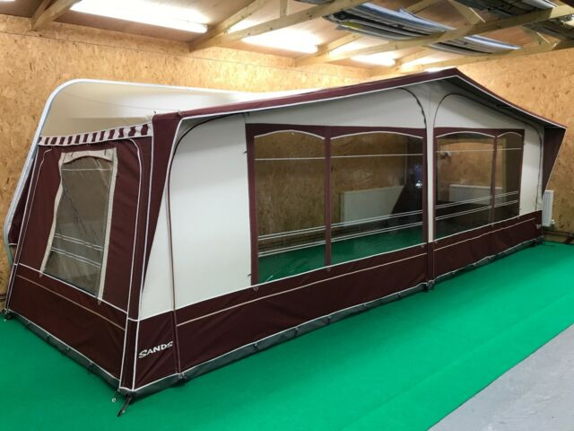 Inaca Sands 1075cm Seasonal Pitch Caravan Awning - Green - Steel Frame