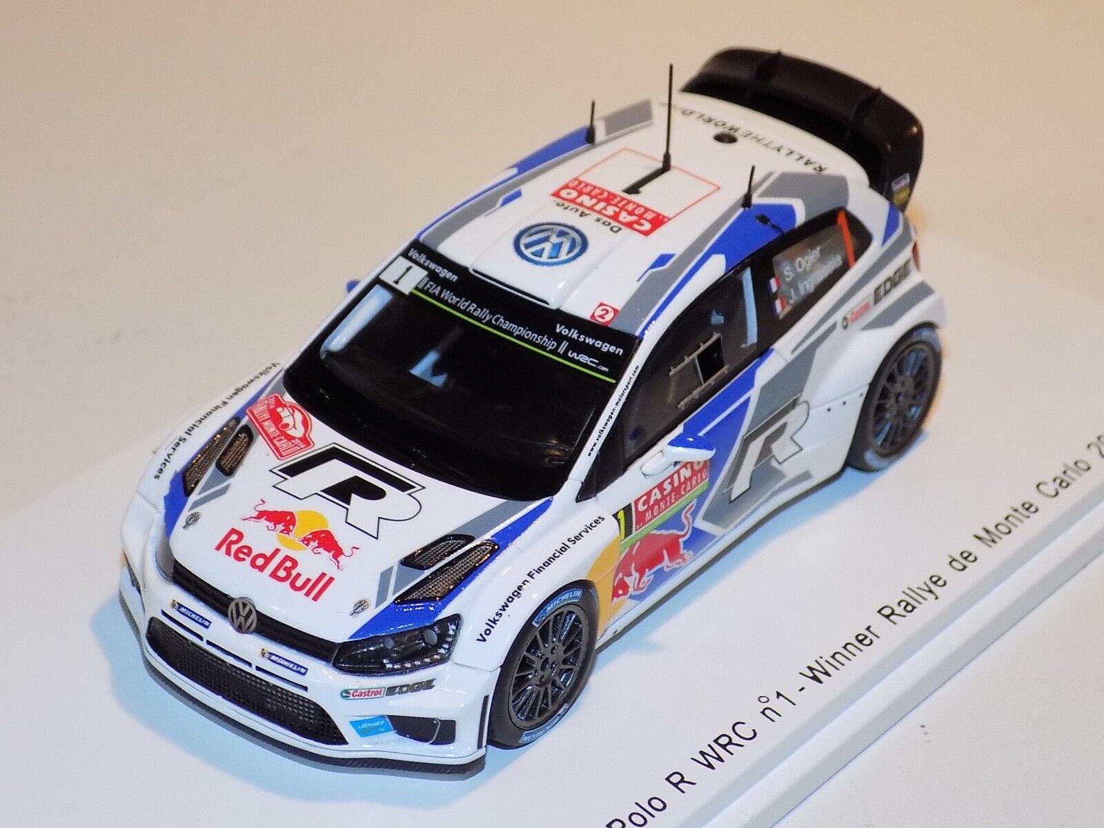 1 43 Spark Volkswagen Polo WRC car Winner Monte Carlo Rally 2014 Ogier S3785