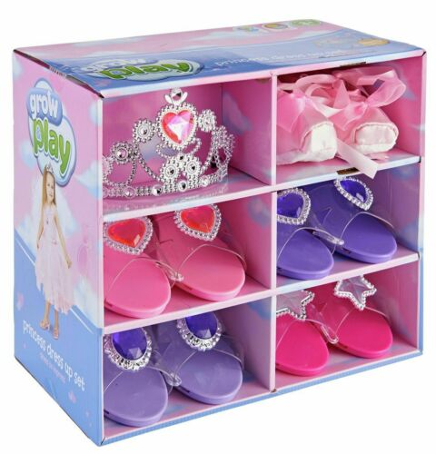 5 Pack with Tiara Ribbons Transforming Themselves UK Chad Valley Glamour Shoes