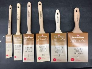 Image Is Loading Benjamin Moore White China Bristle Oil Paint Brushes