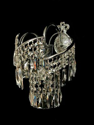 Abb Silberfarben Bogen Kristall Wandlampe mit echtem Kristall Gold möglich