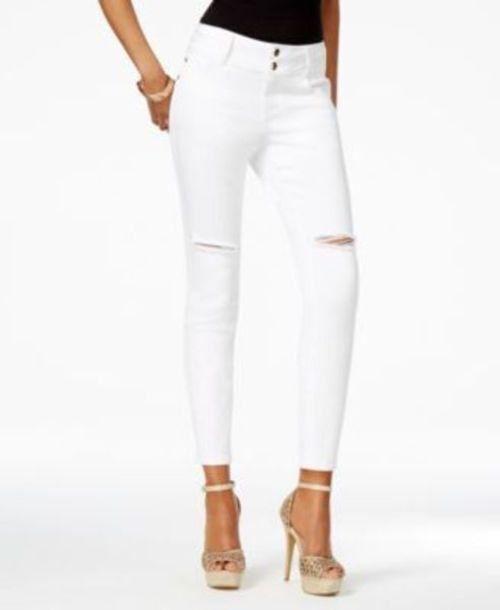 855389c4451 Thalia Sodi 9433 Size 16 Womens White Skinny-leg Jeans Ripped SKINNY for  sale online