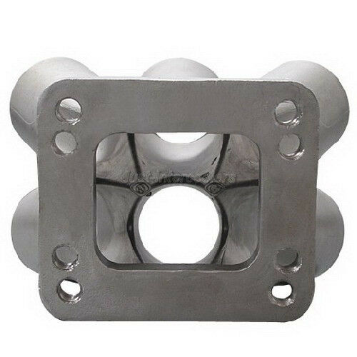 Cast 304 Stainless Steel 6-1 Turbo header manifold Merge collector T3 T4 Flange