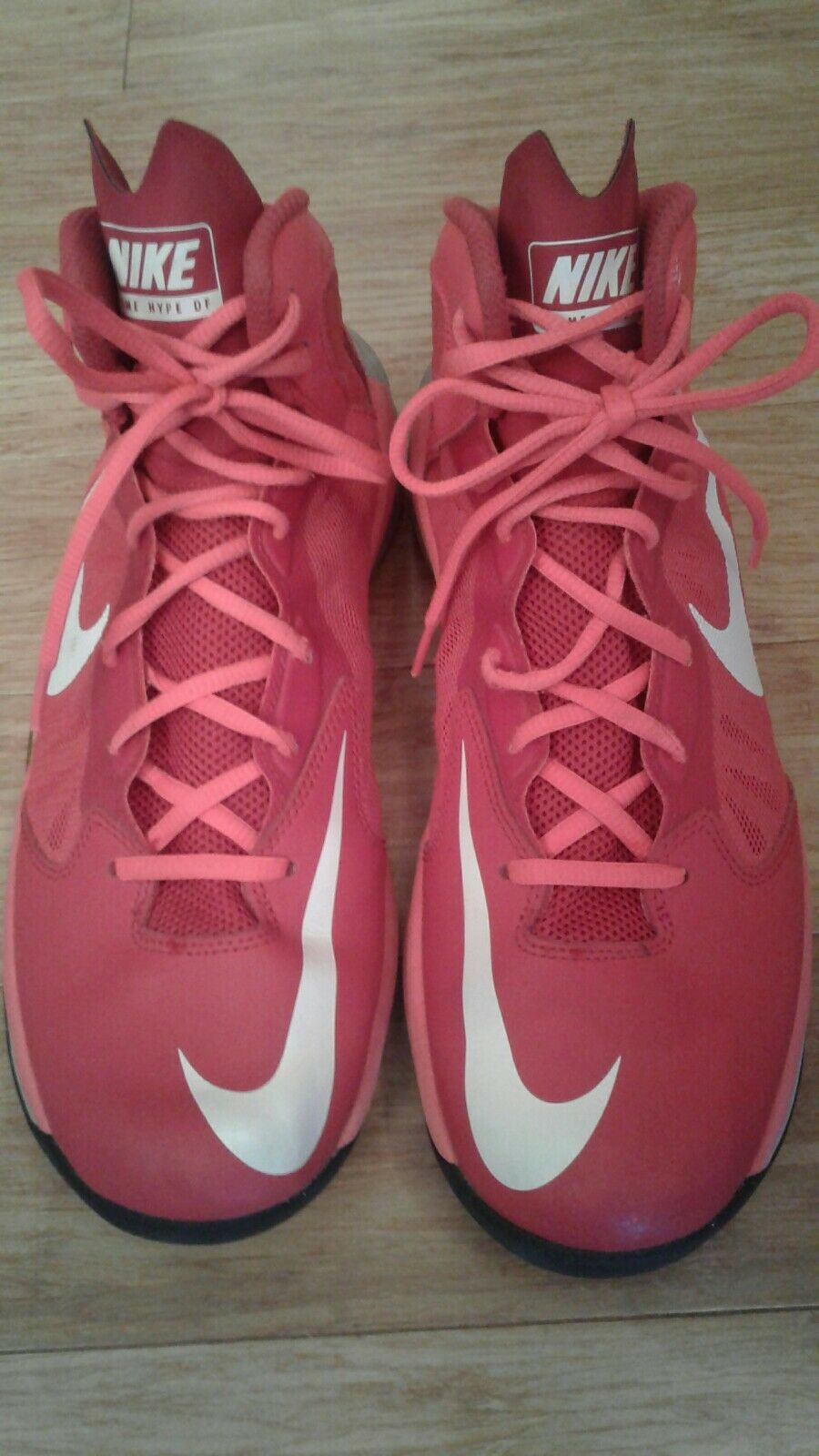 Men's NIKE PRIMEHYPE DFII 2015 Basketball Shoes Red Sz.8.5 EXCELLENT CONDITION