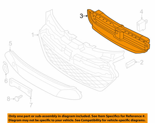 Sonata Hybrid 11-12-13-14-15 Grille Active Air Shutter Lower Flap Duct Deflector