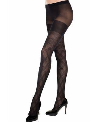 Spandex Argyle Design Pantyhose Music Legs 7280