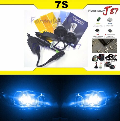 LED Kit 7S 50W 9012 HIR2 10000K Blue Two Bulbs Head Light Dual Beam Replacement