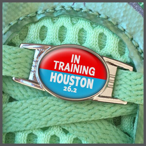 In Training Houston 26.2 Marathon Shoelace Sneaker Shoe Charm or Zipper Pull
