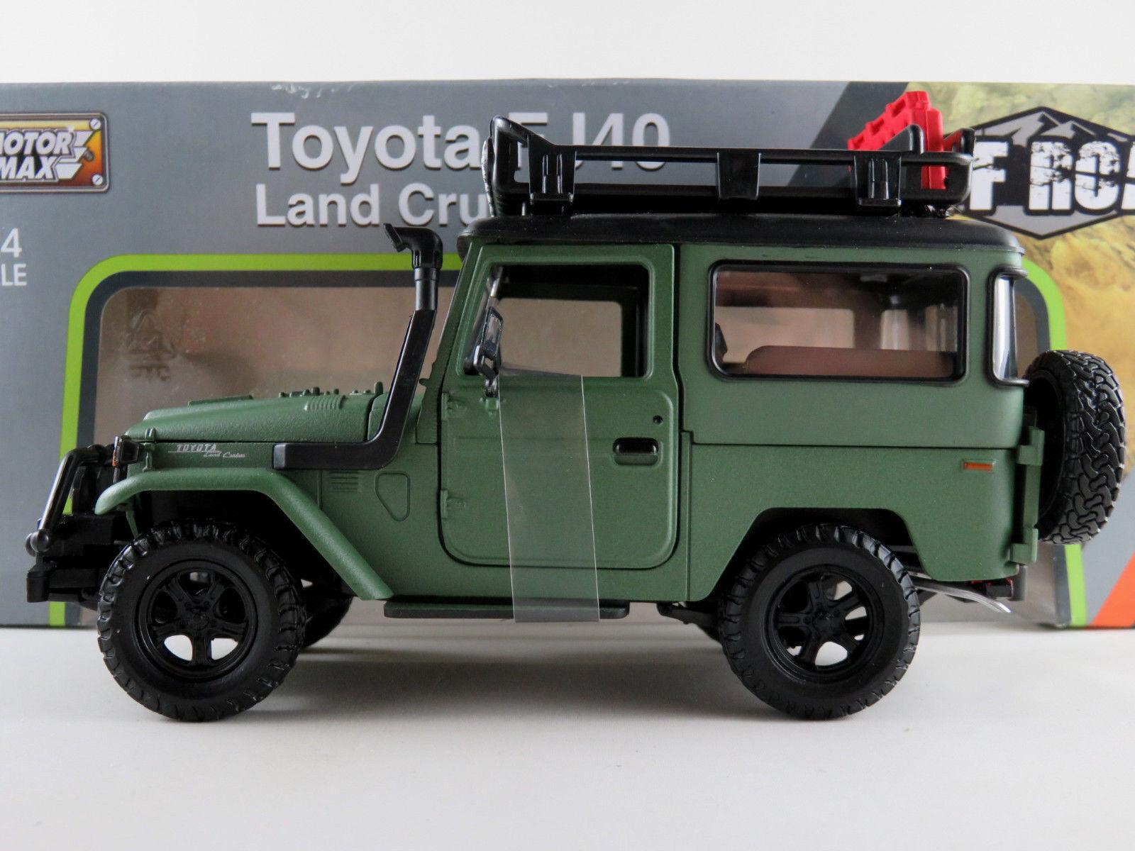 MOTORMAX 79137 Toyota FJ40 Land Cruiser (1960)  OFF ROAD  in grün 1 24 NEU OVP    Neue Produkte im Jahr 2019