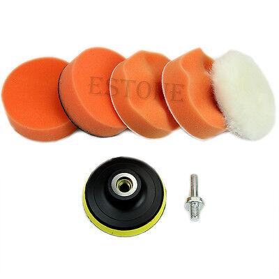 "New 6pcs 75mm 3"" High Gross Polishing Buffing Pad Kit for Car Polisher Buffer"