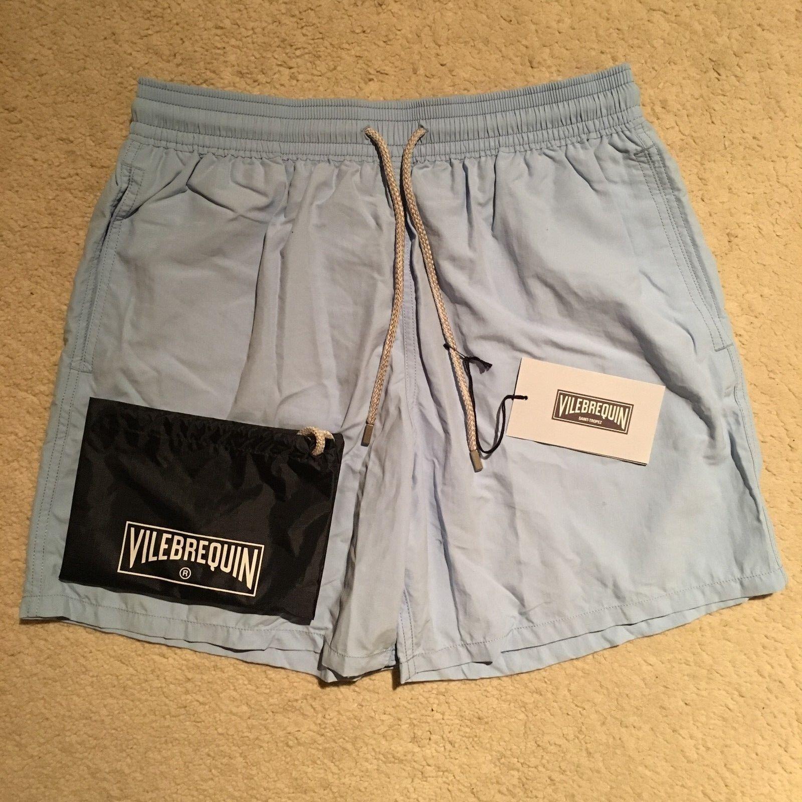 Vilebrequin Moorea Solid Swim Shorts Trunks - blue Ciel RRP .00