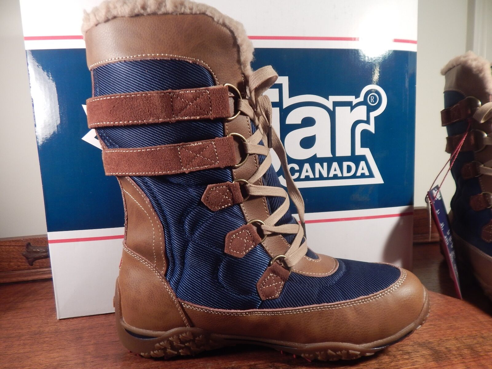 Pajar Canada Aventure Low Donna Cognac/Navy Winter boots 7.5-8 size 38 US 7.5-8 boots 14e5e2