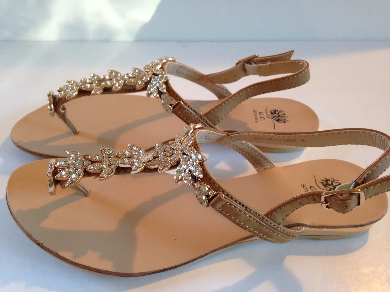 GC Shoes Sandals Waterlilies Sandals Shoes Tan Size 8M 1de9ea
