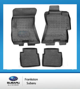 floor trays subaru trunk liners mats cargo genuine outback