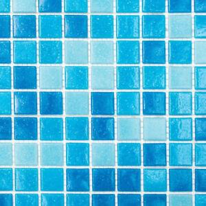 Piastrella mosaico vetro azzurro blu bagno specchio terra 52 0402 1 foglio ebay - Mosaico vetro bagno ...