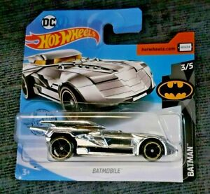 Mattel-Hot-Wheels-Batimovil-Plata-Totalmente-Nuevo-Sellado