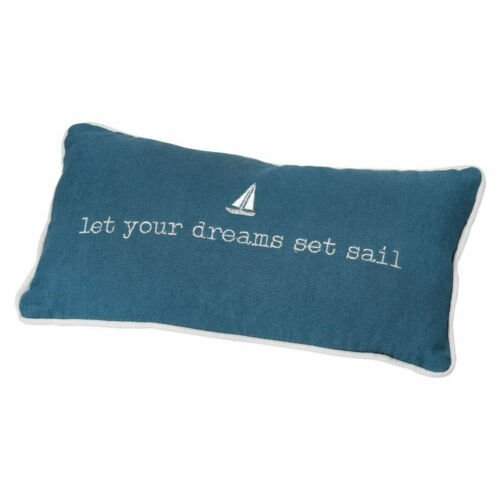 "Wheels Design Sea than Words Dream Pillow /""Let Your Dreams/"" Cotton"