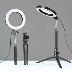 """6"""" LED Ring Light with Stand 5500K Dimmable Lighting Kit for Makeup Phone Camera 634383421017"""