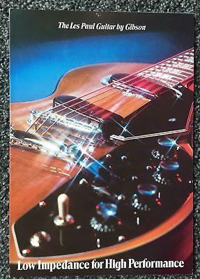 1971 Original Gibson Les Paul Recording/triumph Brochure- W/soundsheet -mint