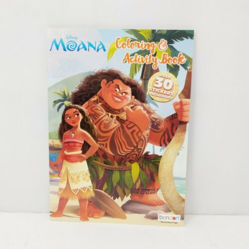 NEW Disney Moana Coloring Activity Book with 30 Stickers Childrens Tear Share