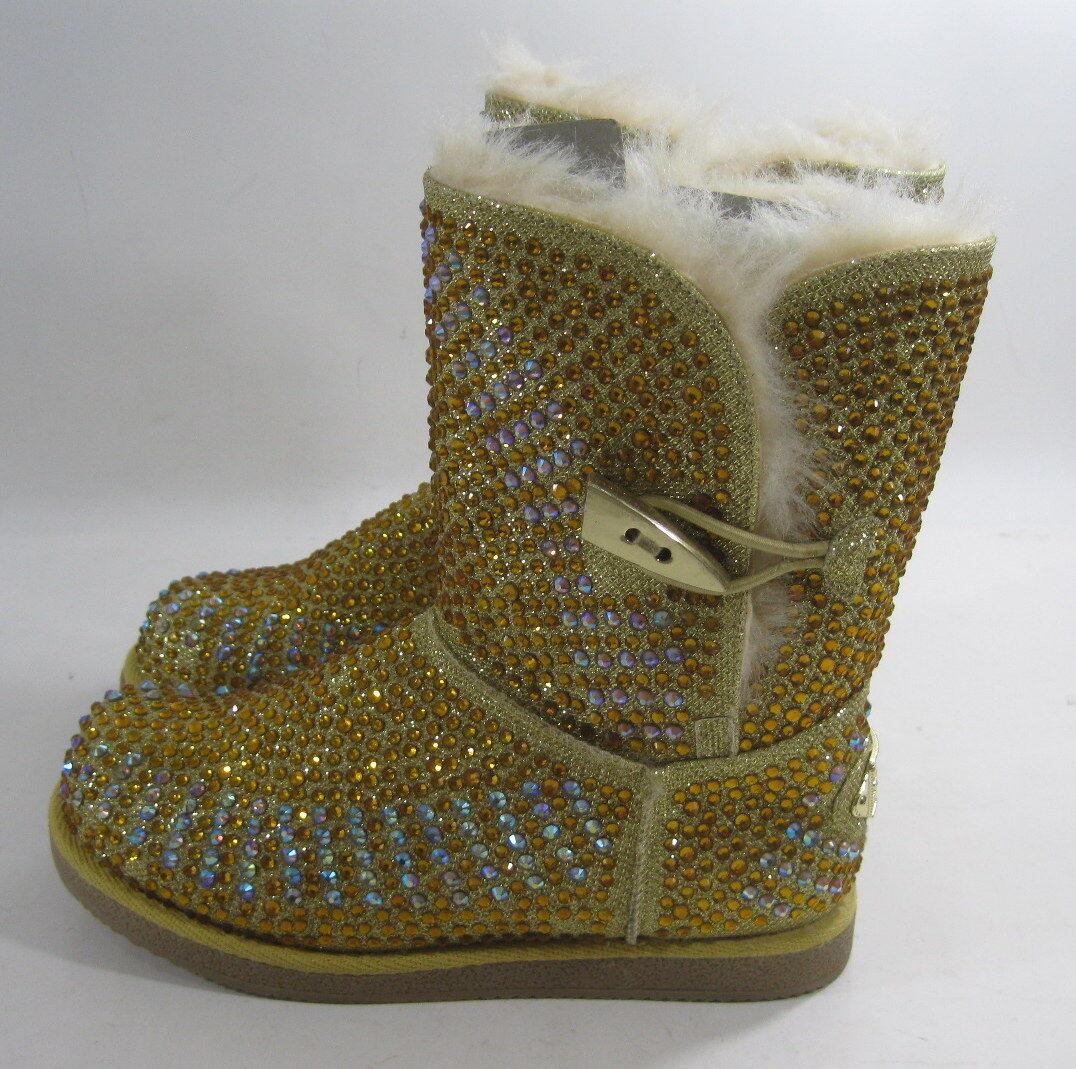 Urban Glitter Gold Rhinestones Größe Winter Ankle Sexy Boot Größe Rhinestones 6.5 5d6a67