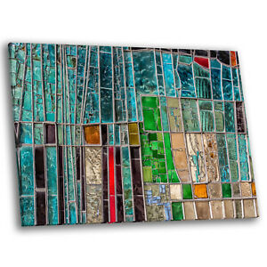 Details About Colourful Abstract Mosaic Effect Large Modern Wall Art Canvas Picture Prints